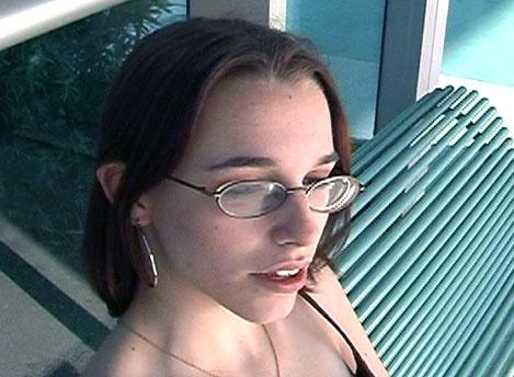 cum covered glasses nikki