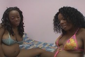 Ebony Lesbian Couple Go Down On Each Other