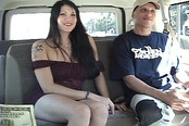 Goth Amateur Hottie Fucking in Car