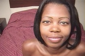 Cute Black Amateur Takes Cum in Eyes