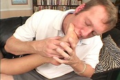 Sheridan Lee Licks Cum Off Her Own Feet