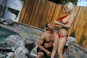 Blond Busty Tattooed Angel Mariah Gets Her Twat Stretched!