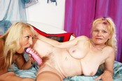 Dueling Dildos with Horny Lesbian Grannies