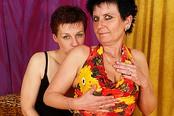 Old Mature Lesbians Explore Girl on Girl