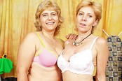 Horny Blond Grannies Bang Each Others' Wet Cunts With Dildos