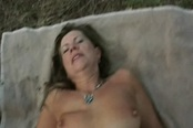 Outside Busty Blonde Milf Samantha Gets Off