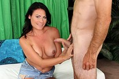 Hot Brunette Teen Ashli Ames Jerks Off French Cock