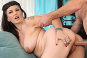 Curvy Step-Mom Carrie Ann Gets Cum All Over Her Lips