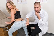 Sexy College Blonde Trisha Exploited at Doctor's Office