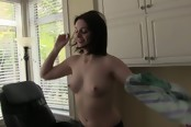 Brunette Plays With Her Pussy And Then Gets Fucked