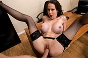Huge Titty Cougar Boss McKenzie Lee Cums Hard!!