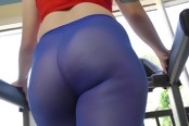 Ariel Blue Shows Off Her Ass In Stockings And Gets Nailed.