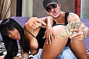 Ebony Babe Fucks Vanilla Baller- with  Chris Strokes, Momoko Mitchell