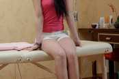 Nell Spreads Her Legs On The Massage Table For A Fingering