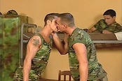 Gay Military Men March to the Bum Beat