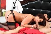 Super Hot Big Titty Slut Eva Notty Stroked On Bed
