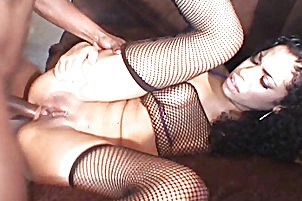 Exotic black amateur getting ass fuck Mika Brown.