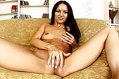Double Dicking Brunette Eats Double Cum adult gallery
