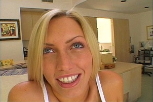 Lustful blonde tag teamed by two dicks Casey Young.
