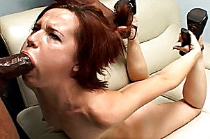 Two guys fuck a petite babes pussy Anna Pierceson.
