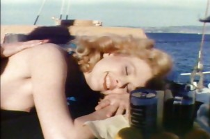 Horny amateurs getting lucky on a boat in retro hardcore Desiree Cousteau, Serena.