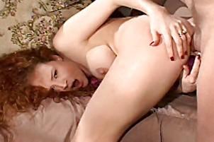 Wild redhead gets butt reamed wide Audrey Hollander.