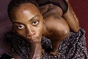 Black Babe in POV Deepthroat Scene