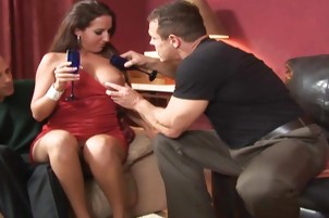 Five guys and four girls have orgy sex Felony, Leah Luv, Richelle Ryan.
