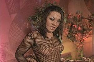 Nasty brunette sluts in butt orgy Ariana Jollee, Sandra Romain.