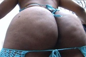 Gigantic Dimpled Ass Sista Takes It Hard