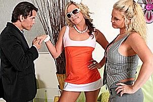 The hilltons make porn a family business Maya Devine, Kiara Diane.