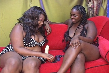 Sexy Ebony Fatties Play With A Strap-On adult gallery