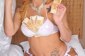 Sexy Blond Shemale Paid For Hard Sex