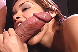Tight little slut blows huge penish Daisy Marie.