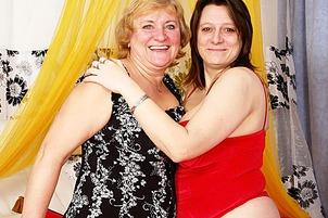 Naughty beata makes granny evita ejaculate violent Beata, Evita.
