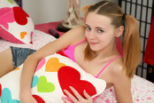Sweet Teen Ava Hardy Pleasures Herself with Huge Toy