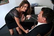 Horny Big Titty MILF Hottie Raquel Seduces New Hire