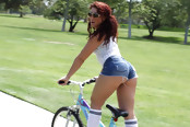 Hot Bitch On a Bike Has Juicy Phat Ass