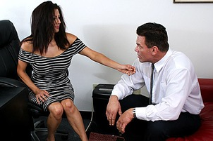 Slutty MILF Boss Sabrina Sanchez Seduces New Hire- with  Dick Delaware, Sabrina Sanchez