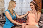 Wildly Sexy Cougar Tanya Tate Has Lesbian Sex with Kimber Day