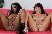 Sexy Black Lesbians Jamie and Mia 69 Each Other
