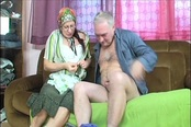 Dirty Old Lady Esmeralda Does The Housework And Works A Cock