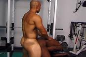 Sexy Gay Black Musclemen in Gym