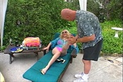 Hot Blond Milf Shows Off Her Feet