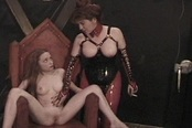 Sex Slave Has Her Pussy Clamped Shut