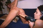 Blond And Brunette Play With Auto Toys