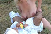 Adult Baby Jerked Off By Blond On Grass