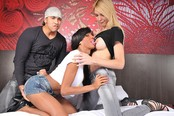 Sexy Trannies Laviny and Ariadny Have Orgy with Yago!