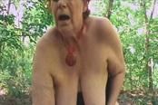 Outside A Horny Granny Tamara Moans Loud