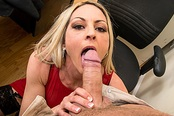Russian Employee Exploited for Sex By Hot MILF Boss!